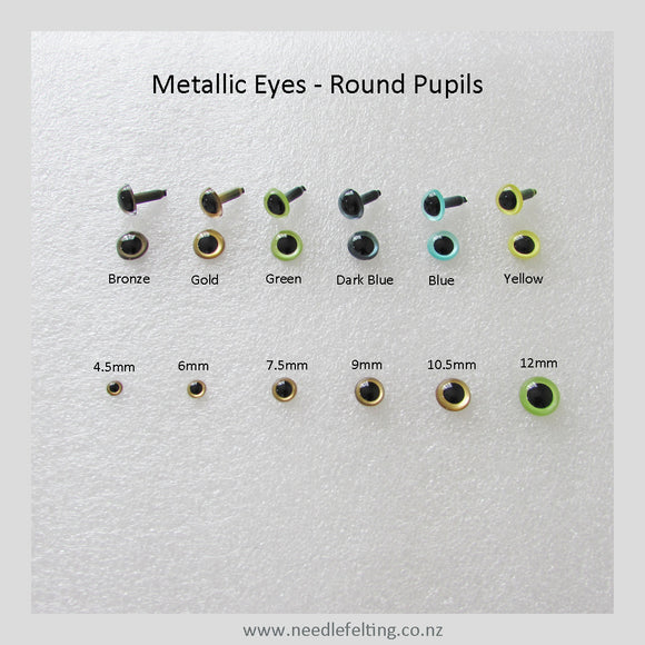 Needle Felting Craft Eyes - Round Pupils Eyes from $0.70