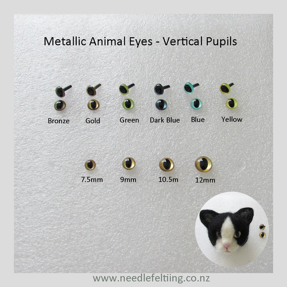 Needle Felting Craft Eyes - Vertical Pupils Eyes