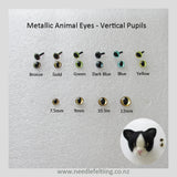 Needle Felting Craft Eyes & Noses - Vertical Pupils Eyes