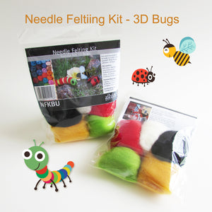 Needle Felting Beginner DIY Kit - 3D Bugs