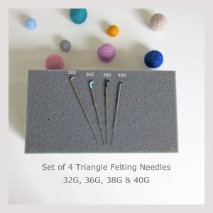 8 Beginner Felting Needles for needle felting - Triangle blade