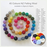 Felting Wool - NZ wool for Needle Felting & Wet Felting 20-30gms From$3.80
