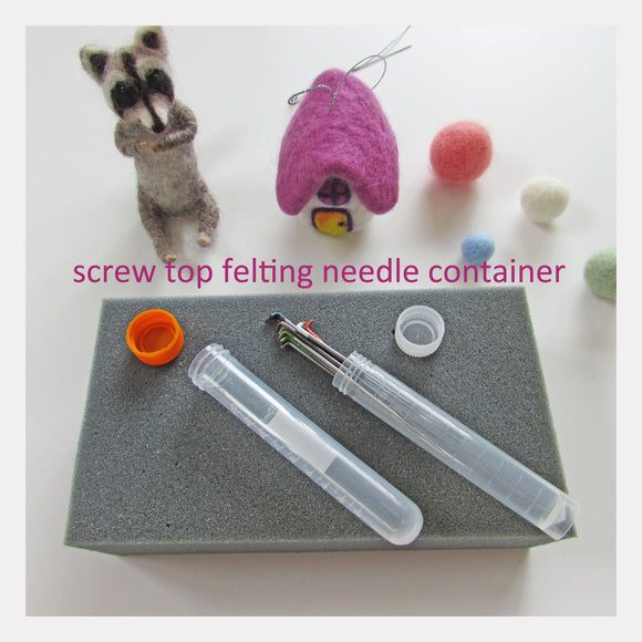 Needle Felting Tool - felting needles container can hold up to 20 needles