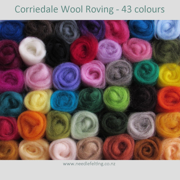 Corriedale Wool Roving For Felting, Spinning & Weaving 20-30gms From$3.00