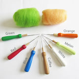 Needle Felting Tools - Single wooden handle
