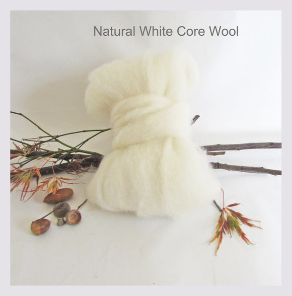 100gms Natural White Core Wool