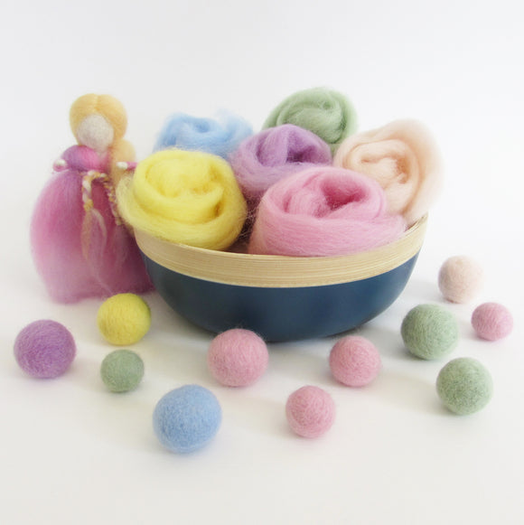 NZ Wool Roving for Felting & Weaving, baby mobile, felted ball , needle felting