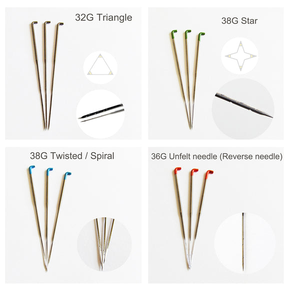 Felting Needles - 11 different sizes and types