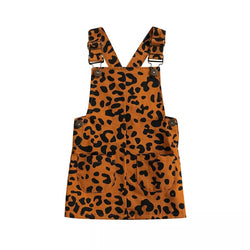 Leopard Over All Dress