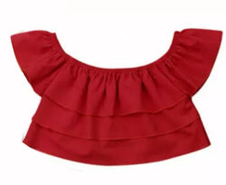 Off the Shoulder - Red