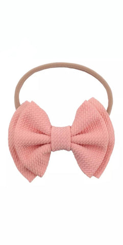 Waffle Bow Head Bands - More colors Available