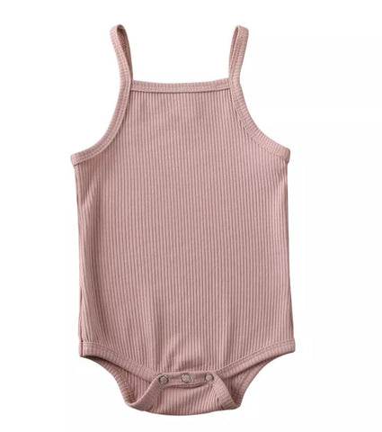 Basic Ribbed Tank - Pink