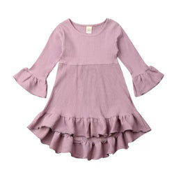 Spring Ruffle Dress - Lilac