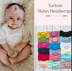 Turban Nylon Head Wraps - 7 Colors