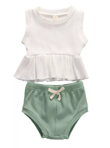 Rib me Everyday Set - White/Green