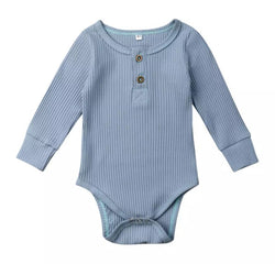 Blue Ribbed Onesie