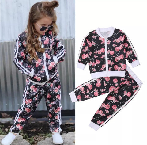 Cool Floral Track Suit