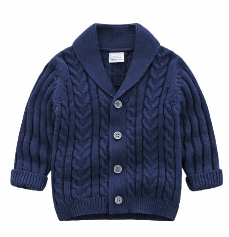 Little Man Cardigan - Blue