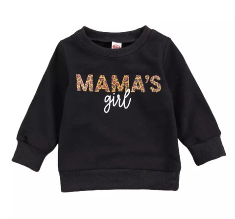 S - Mama's Girl Sweat Top Black