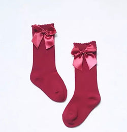 Red Bow Knee Highs