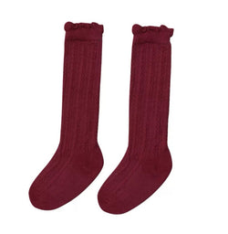 The Classic Knee High - Burgundy