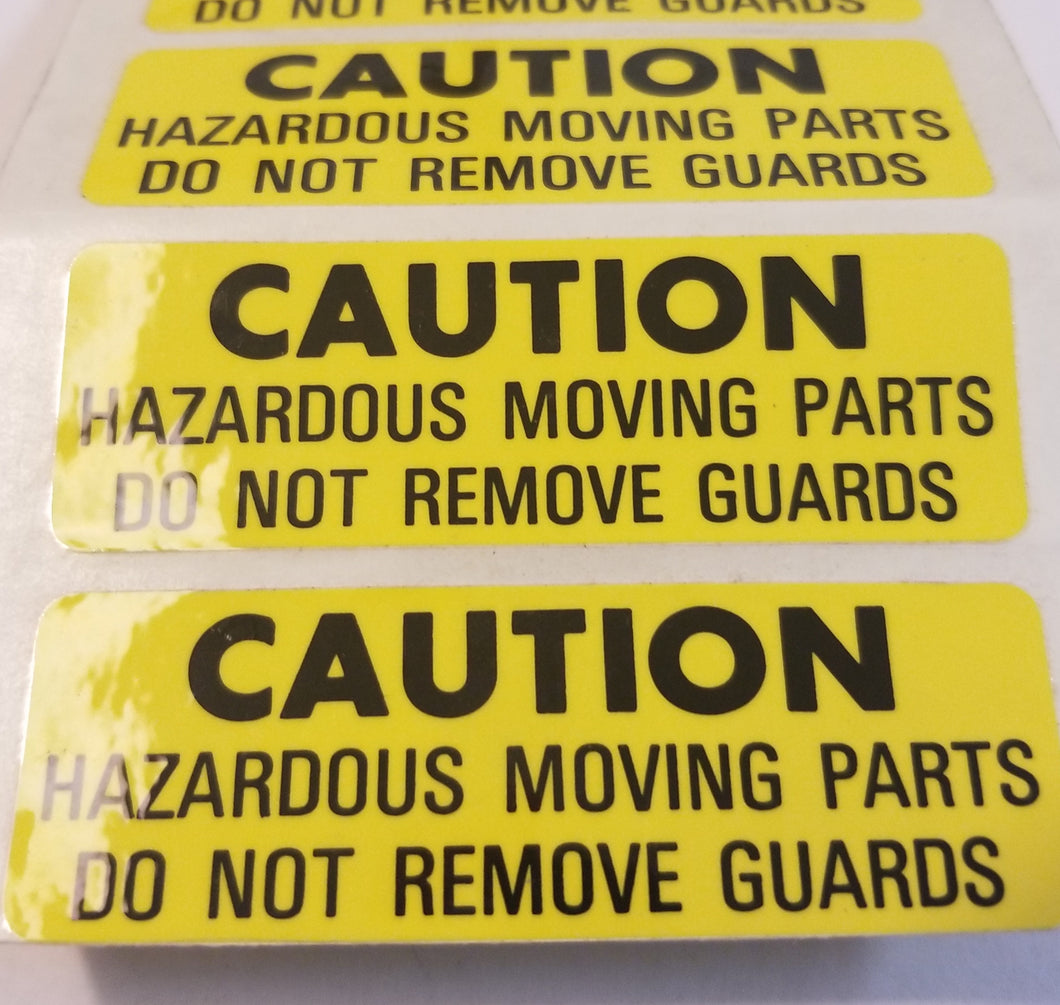 981719 Caution Label  ** Mailcrafters Part **