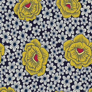 Yellow blue flowers - iPhone Case