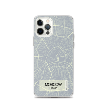 Moscow City Map iPhone Case
