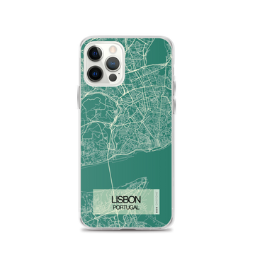 Lisbon City Map iPhone Case
