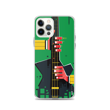 Green guitar iPhone casea