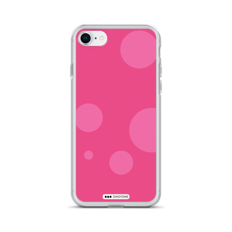 Pink Bubbles iPhone Case