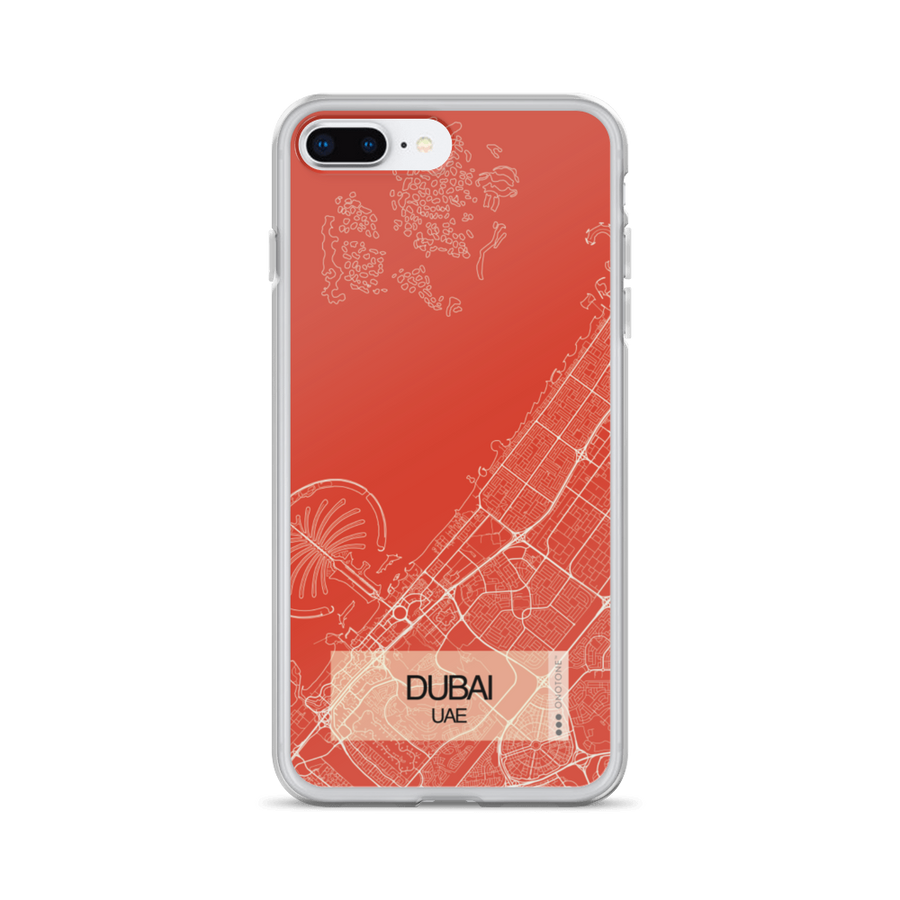Dubai City Map iPhone Case