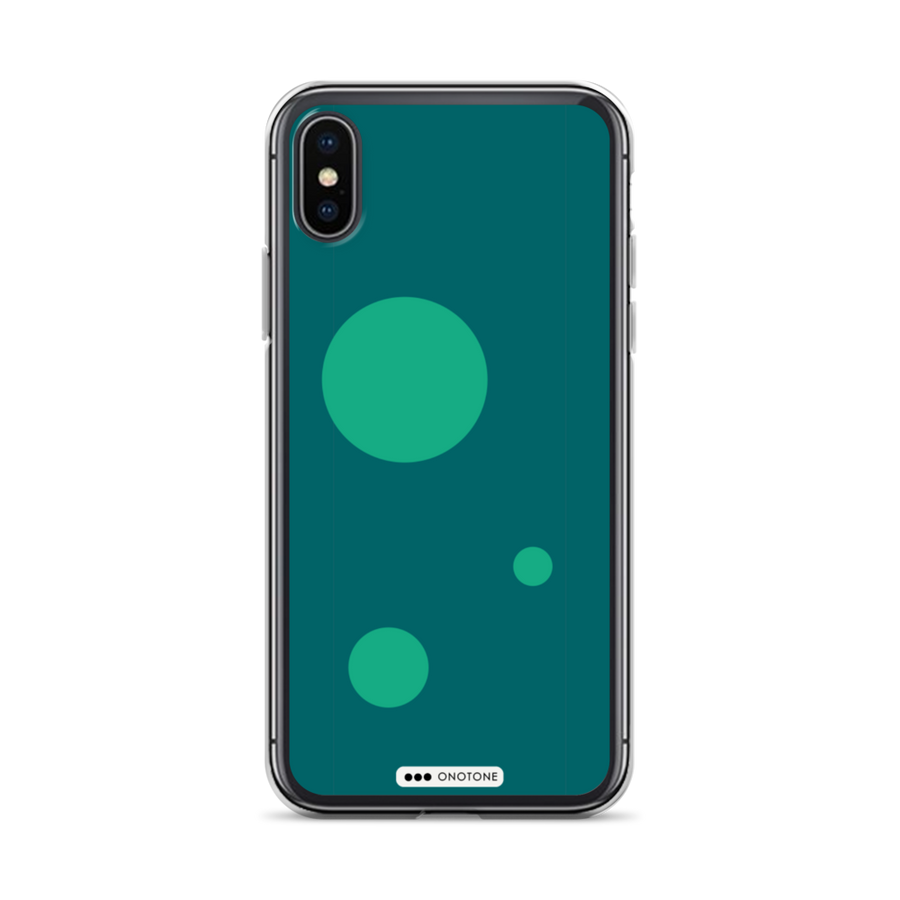 Green Bubbles iPhone Case