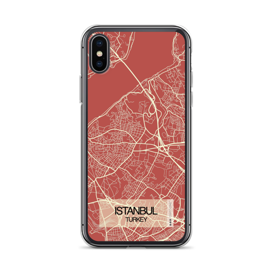 Istanbul City Map iPhone Case