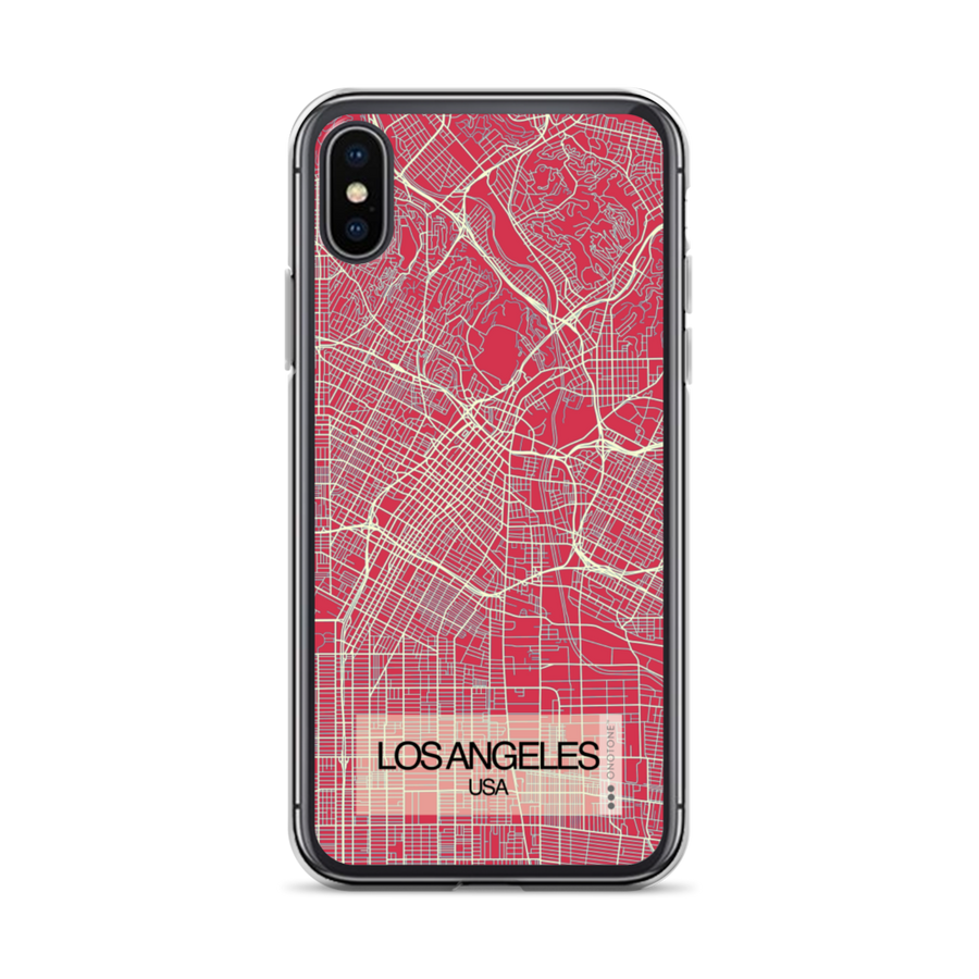 Los Angeles City Map iPhone Case