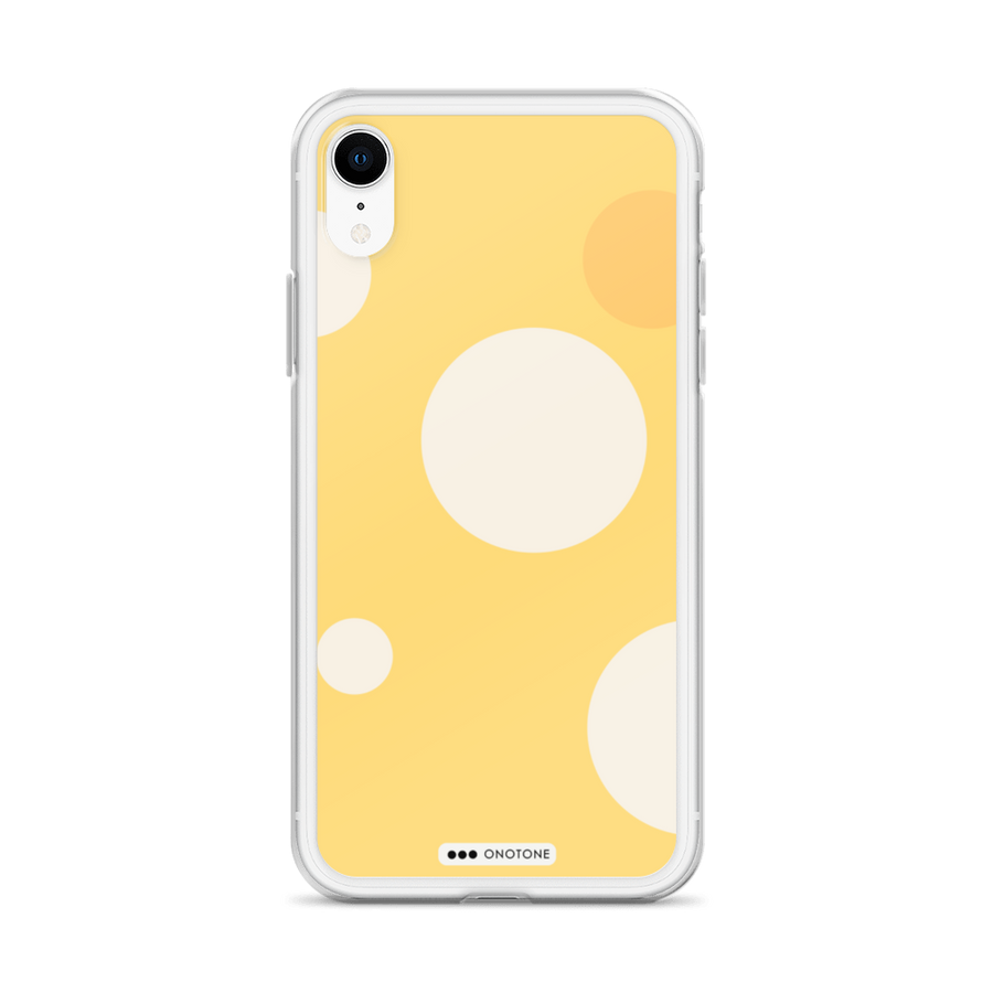 Yellow bubbles iPhone Case