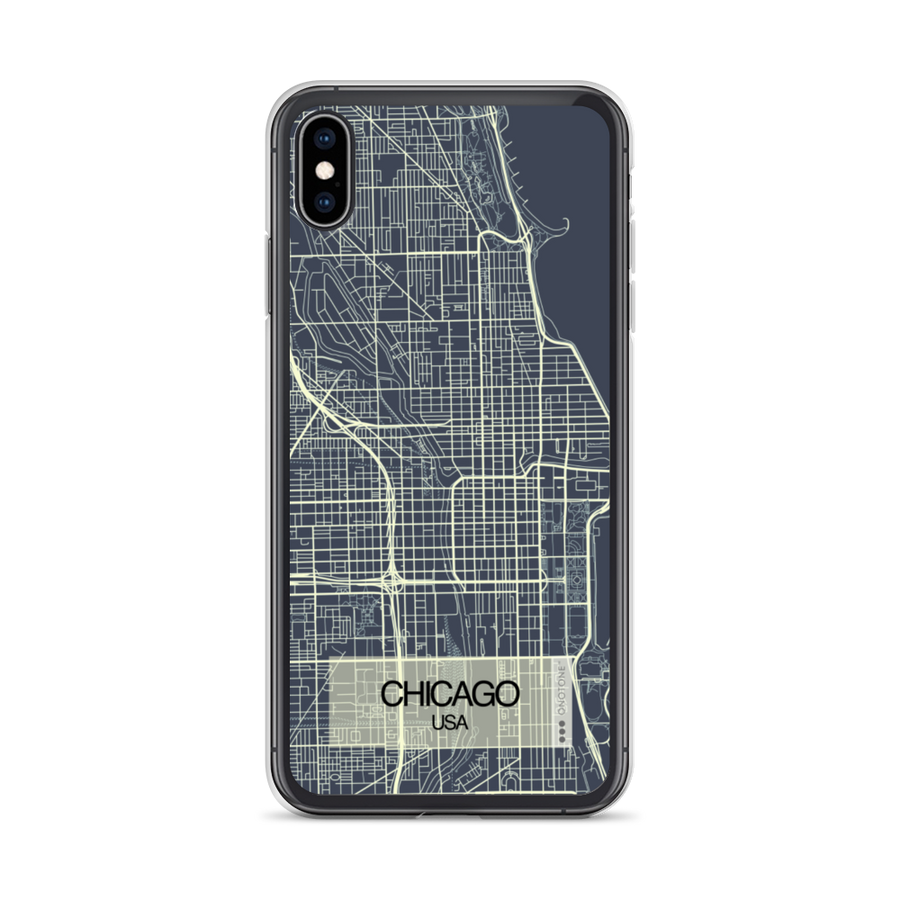 Chicago City Map iPhone Case