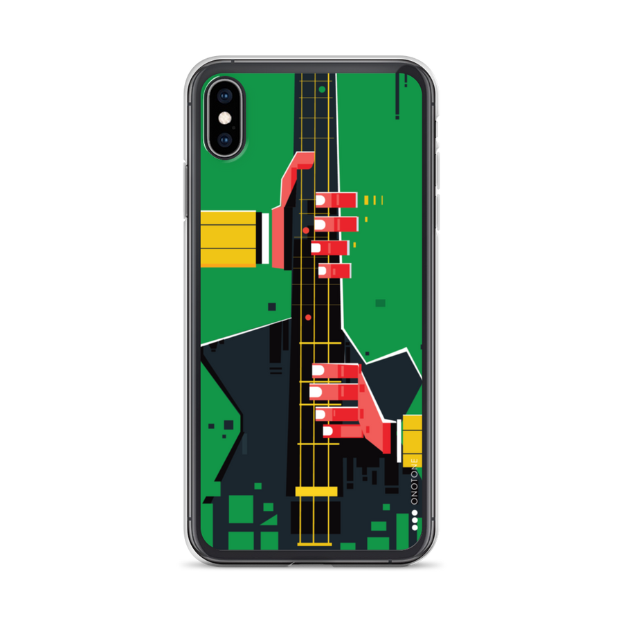 Green iPhone Case guitar playing