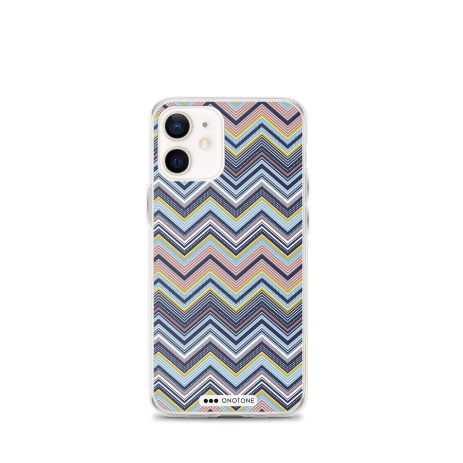 Zig zag lines iPhone Case