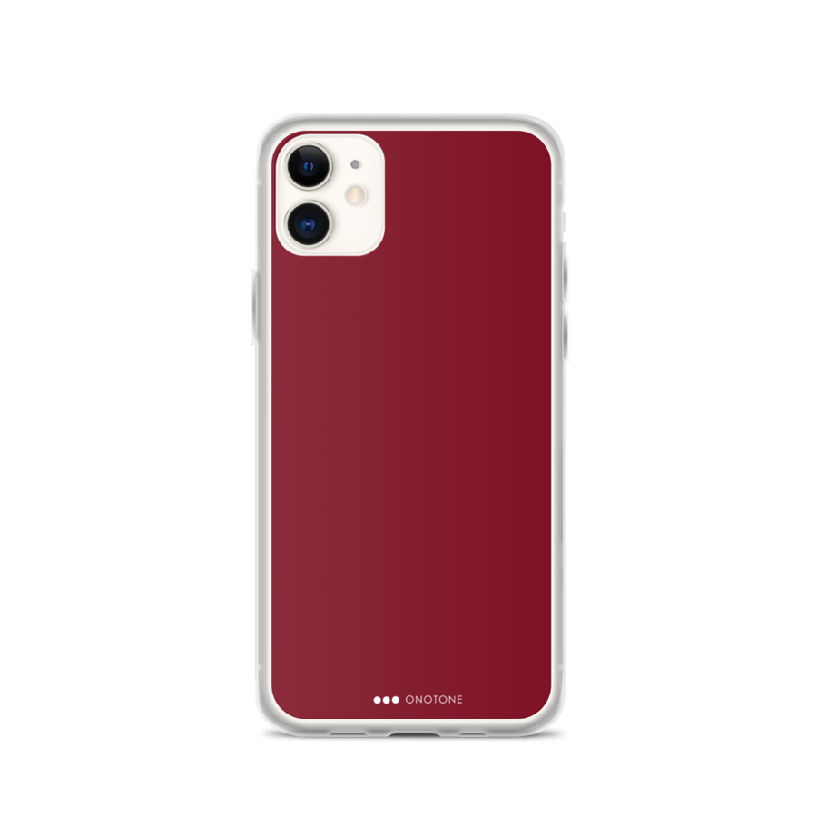 burgundy red iPhone case