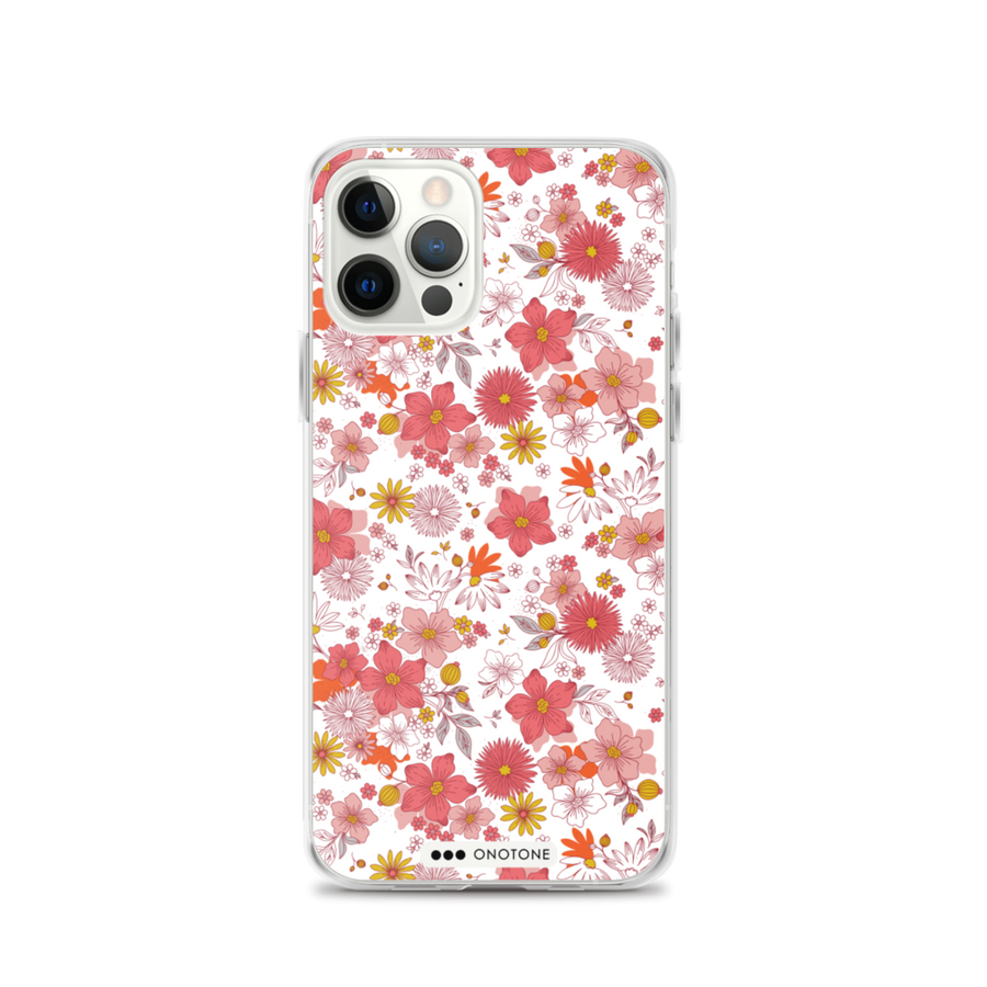 pink flower iPhone 12 case