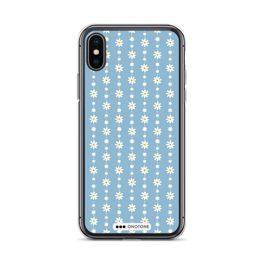 blue flowers iPhone case