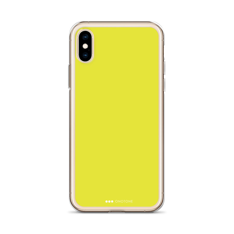 Lemon yellow iPhone Case