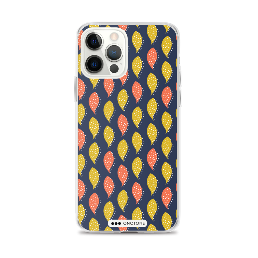 blue, pink yellow pattern iPhone case