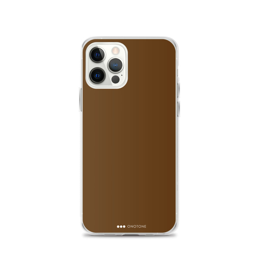chocolate brown iPhone case