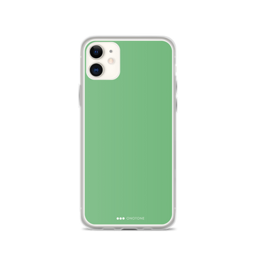 Flat green iPhone Case