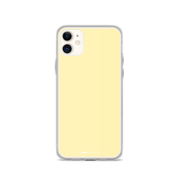 Light Yellow iPhone Case