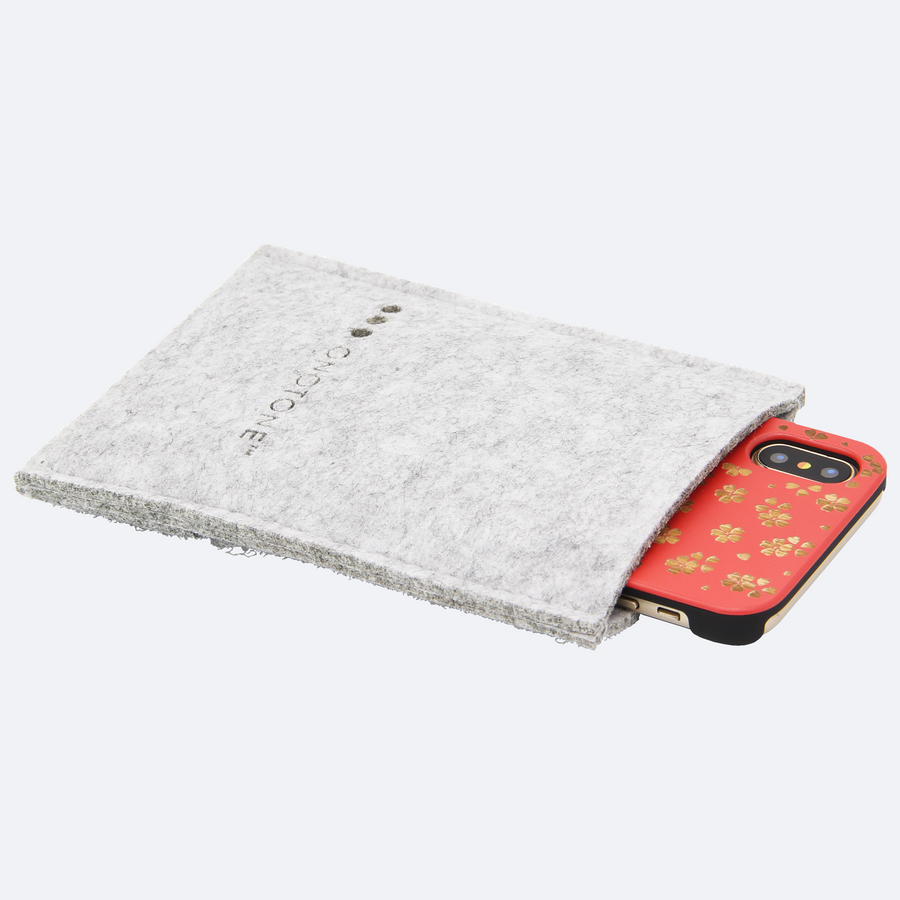 iPhone X felt pouch