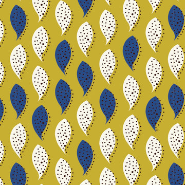 yellow blue pattern - iPhone Case