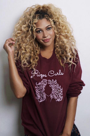 Rizos Curls Sweatshirt: Burgundy